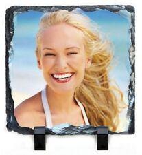 Personalised Rock photo slate Display  square 20cm x20cm