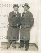 1928 American Aviation Pioneer Orval Porter With His Friend Eugene Press Photo