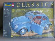 Revell Classics 7490 Volkswagen Beetle VW Kafer Sun Roof  1:16 Plastic Kit  RARE