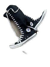 Converse Black White Knee High Sneakers Mens 7.5 Womans 9.5 C2