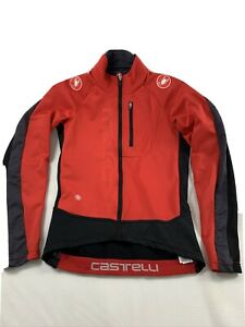 Castelli Transparente 3 Light Jersey Jacket Red Black Gray Men's Small