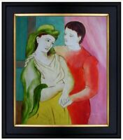 Framed Quality Hand Painted Oil Painting, Friends Repro, 20x24in