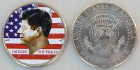 USA Kennedy Half Dollar Farbmünze unz.