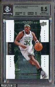 2009-10 UD Exquisite Paul Pierce Boston Celtics 79/199 BGS 8.5 w/ 9.5