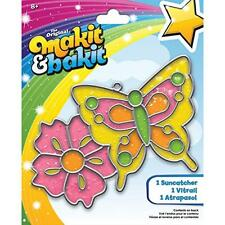Colorbok Makit and Bakit Suncatcher Kit, Butterfly and Flower, New, Free Shippin