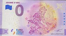BILLET 0 EURO JEANNE D'ARC   FRANCE 2021 NUMERO DIVERS