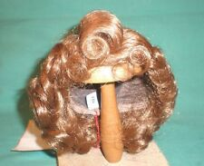 "doll wig light brown 11"" to 11.5"" Glorex/Switzerland curls and cockscomb"