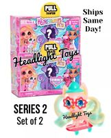 Set of 2 Hairdorables Shimmer PETS SERIES 2 New Sealed Box 8 Surprises Doll Hair