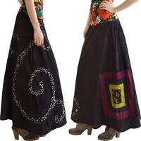 Damen langen Röck Kleid Maxirock Gr. 34/36/38/40/42/44/46/48/50 XS/S/M/L/XL/XXL