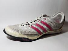 Adidas Womens 10 M Training Running Sneaker Shoes Beige White Pink Mesh Fit Foam