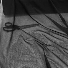 schwarz Stretch Netz-stoff Dekostoff als Meterware Gardine Vorhang