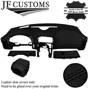 BLACK STITCH LEATHER COVERS FOR CORVETTE C6 05-13 FRONT INTERIOR RECOVERY KIT