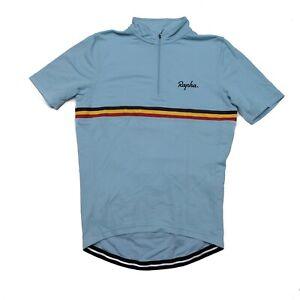 Rapha country cycling jersey, size M, Belgium, merino wool blend, blue
