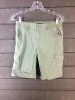 LEE 602 Relaxed Fit Green Mid Rise Bermuda Shorts Women's 4