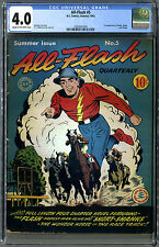 All-Flash #5 (Summer 1942) CGC Graded 4.0, KEY! Quite scarce, only19 in census!