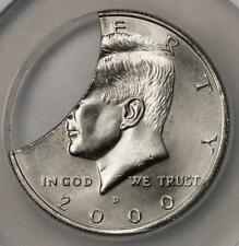 2000 D NGC MS63 HUGE 30% Clip Planchet Kennedy Half Dollar Mint Error a Wow Coin