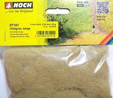 (100g=13,78€) NOCH 07101 Wildgras beige, Streugras, 6 mm hoch, 50 g Beutel, Neu