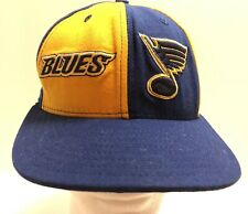 St Louis Blues NHL Hockey Fitted Blue Yellow Color Block Hat Cap 7 3/8 New Era