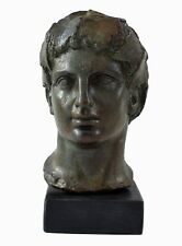 Dionysos bust with bronze color effect - Dionysus God of wine and ritual madness