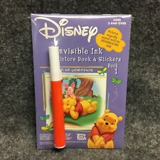 Disney Winnie The Pooh Book 1 Invisible Ink & Stickers Activity Picture Book NEW