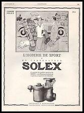 Publicité SOLEX n° 6 Automobile Golfeur golf Accessoires car vintage ad  1927