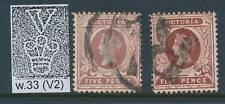 VICTORIA, 1886 5d purple-brn,red-brown wmk V2 very fine, SG317,317a, cat £7