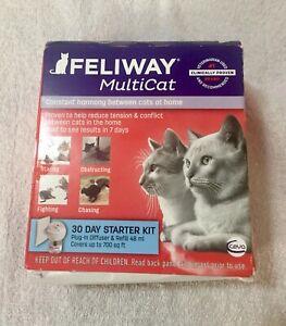 GENUINE FELIWAY MULTICAT 30 DAY STARTER KIT (New damaged box) Exp 07/2023