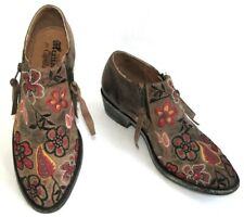 MEXICANA COTELAC -Boots brodées 2 zip cuir marron 40 EUR 9.5 USA -EXCELLENT ETAT