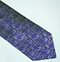MISSONI Purple Chevron Design 100% Silk Tie MADE IN ITALY