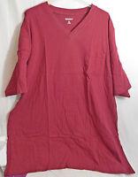 Men's Big & Tall V Neck 1 Pocket T-Shirt in Burgundy 2XL 3XL by King Size