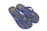Tory Burch Flip Flops Thong Sandals Blue Floral Pasny 7