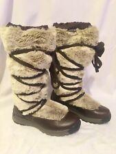 Merrell Katia Waterproof Winter Boots Womens 8 brown fur tall snow