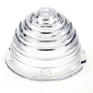 Porsche 356 A T2 58-59 Tall clear beehive turn signal lens Replaces 64463100401