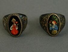 Hand-Painted Russian Lacquer RINGS