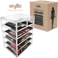 Acrylic organizer Set of 6 Large Drawers for Makeup jewelry Office Supplies.