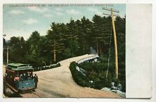 1909 ME Postcard Falmouth Foreside Trolley streetcar Road Underwood Spring Park