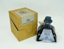Rare Vintage Glass Bottle Blu Campo Marzio Roma Fountain Pen Ink Blue 150ml