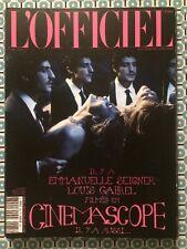 L'OFFICIEL PARIS French Mai 2014 Emmanuelle Seigner Louis Garrel Adjani Deneuve