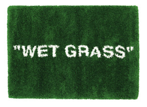 "Virgil Abloh x IKEA MARKERAD ""WET GRASS"" Rug 195x132 CM Green Off-White Supreme"
