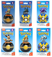 New Mega Construx Pokemon Poke Ball Series 8 Figures Set of 6