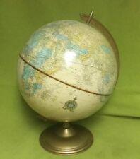 VTG ~ Cram's Imperial ~ World Globe ~ 12 In ~ Metal Base