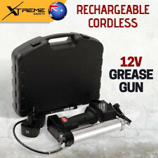 12V Rechargeable Cordless Black Grease Gun, Up To 7500PSI w/ Durable Carry Case