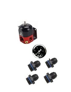 Aeromotive 13204 A1000 Carbureted Bypass Regulator with Fitting Kit & Gauge
