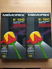 Memorex VHS Blank Tapes E-120  X2 New & Sealed