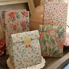 4pcs Flower Floral Paper Xmas Party Holiday Cookies Gift Bag Holder + Sticker QW