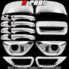 14-15 Jeep Grand Cherokee Chrome Covers Mirror Door handle Tailgate Fog Lamps SK