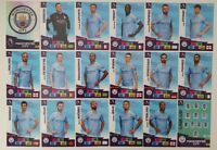 2020/21 PANINI Adrenalyn EPL Soccer Cards - Manchester City Team Set (18 cards)