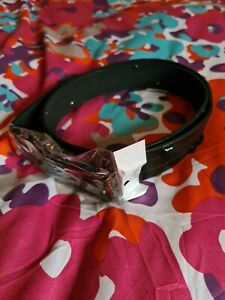 Leather Black Belt by Playboy .Unisex .Brand New Tags