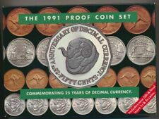 1 x 1991 Proof 50c Coin From this Set 25 Years of Decimal Currency