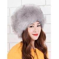 Women Winter Warm Cossack Hat Russian Style Ski Cap Earmuff Soft Fake Fur